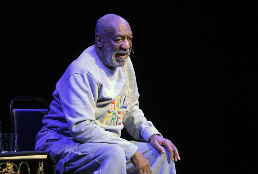 Comedian Bill Cosby performs during a 2014 show at the Maxwell C. King Center for the Performing Arts in Melbourne, Fla.