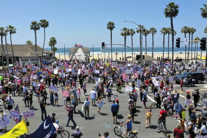 Protest in Huntington Beach