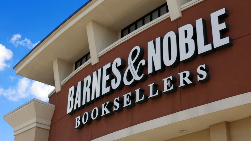 FILE - This Aug. 31, 2017 file photo, shows a Barnes and Noble Booksellers store in Pittsburgh. Sha