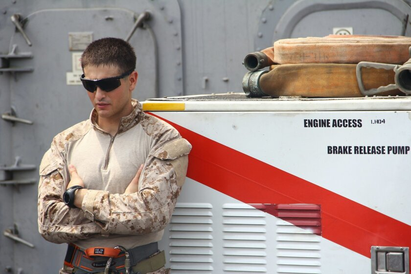 """Marine Sgt. Franklin Simmons, recipient of the Silver Star for """"conspicuous gallantry"""" under fire in Afghanistan."""