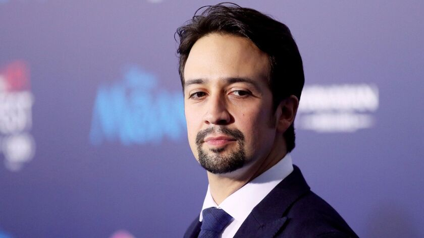 "FILE PHOTO: Actor and composer Lin-Manuel Miranda poses at the world premiere of Walt Disney Animation Studios' ""Moana"" in Hollywood"