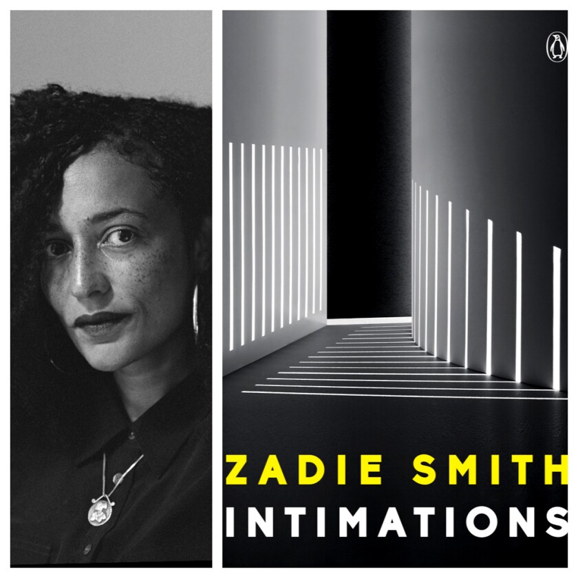 """Zadie Smith, author of the collection of essays """"Intimations."""""""