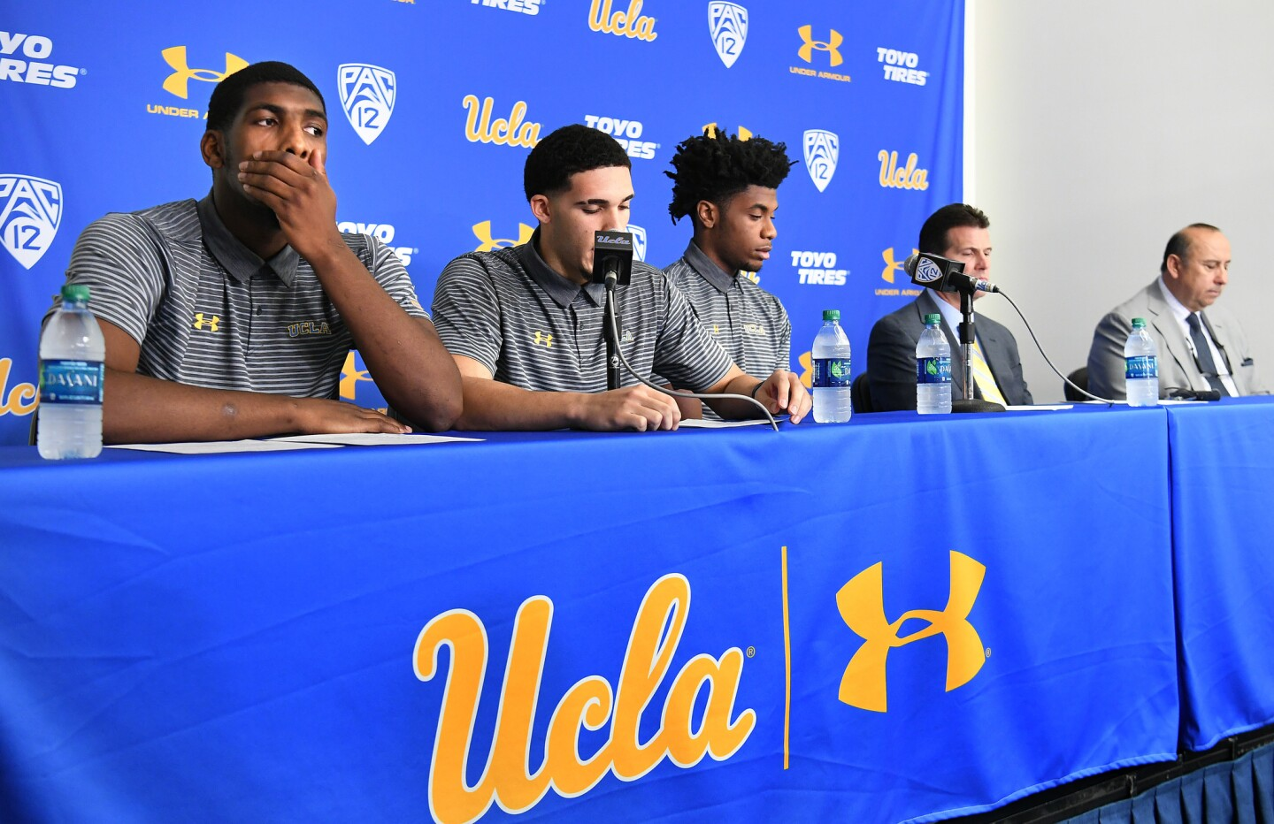 UCLA basketball players press conference