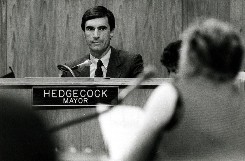 Then-Mayor Roger Hedgecock in 1985.