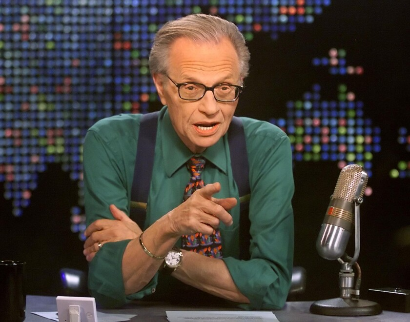 """Larry King is set to host the forthcoming podcast """"The Millionth Question."""""""