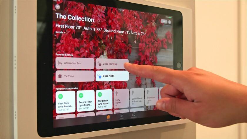 Users can control thermostats, lighting and door locks through Apple HomeKit.