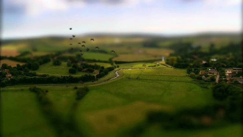 Tilt shift's shrinking technique is a growing effect