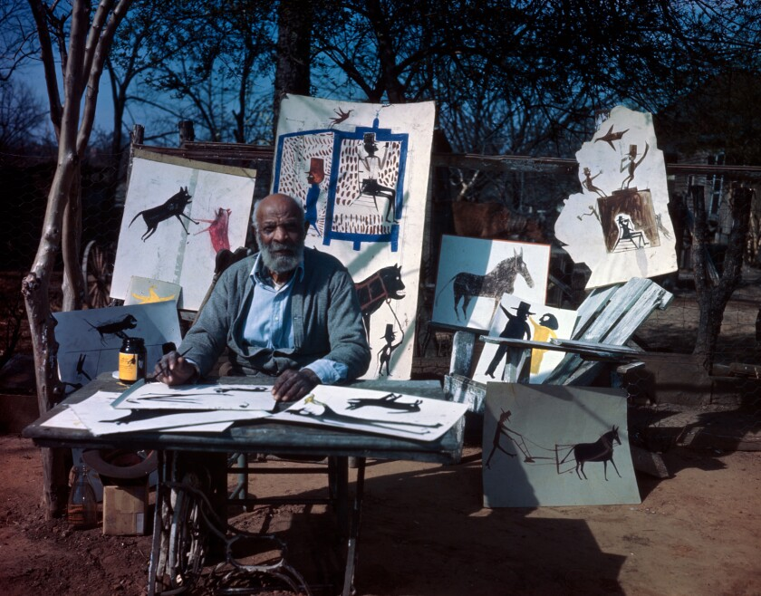 """Artist Bill Traylor in the documentary """"Bill Traylor: Chasing Ghosts."""""""