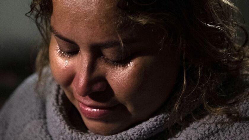 Luisa Hidalgo, de El Salvador, espera reunirse con su hija Katherinne, de 14 años. (Carolyn Van Houten / The Washington Post)