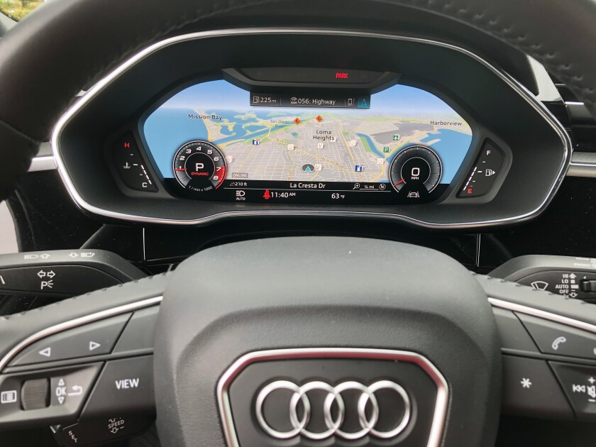 The 12.2-inch virtual cockpit graphic display is part of the navigation package, $2,000.