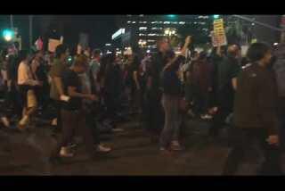 Trump protest at Los Angeles City Hall