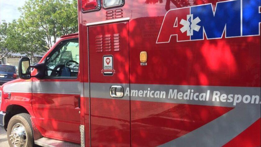 Four ambulances took injured passengers of a crashed van to hospitals Friday. The medical transport van overturned on SR-54 near South Woodman Street.