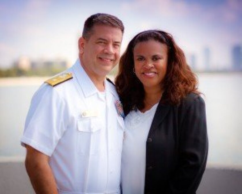 Rear Admiral Pittman and Rebecca Feaster-Pittman (Courtesy of Rebecca Feaster-Pittman)