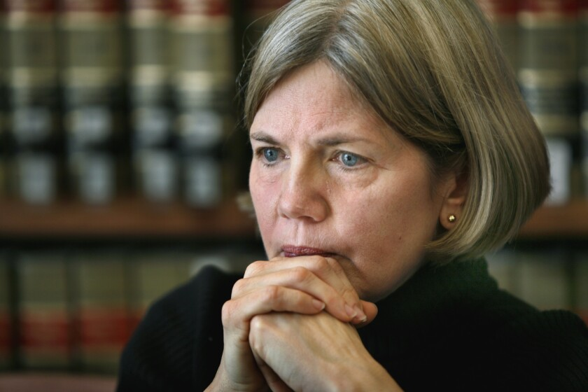 Elizabeth Warren at Harvard Law School in 2006.
