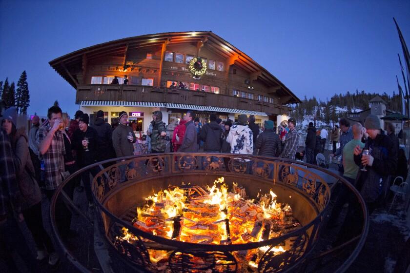Après ski at the Yodler Restaurant and Bar at Mammoth Mountain Ski Resort.