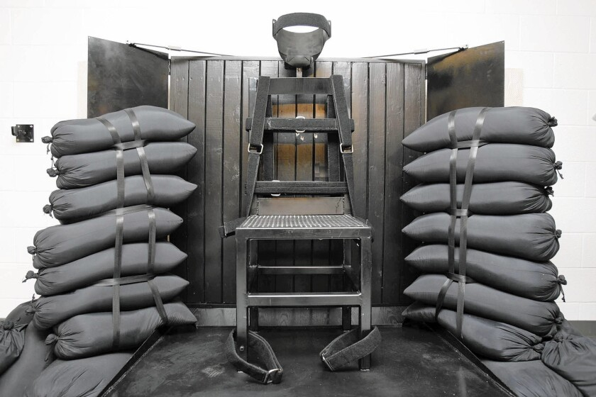 The firing squad execution chamber at the Utah State Prison in Draper in 2010. Gov. Gary Herbert is considering whether to sign a bill to bring the execution method back to the state.