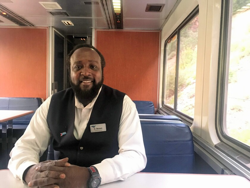 Darrell Bennett has been a bartender aboard the California Zephyr for 15 years.