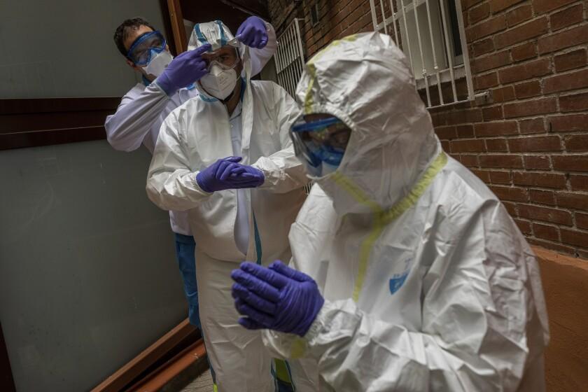 Virus Outbreak Spain Ambulance Photo Gallery