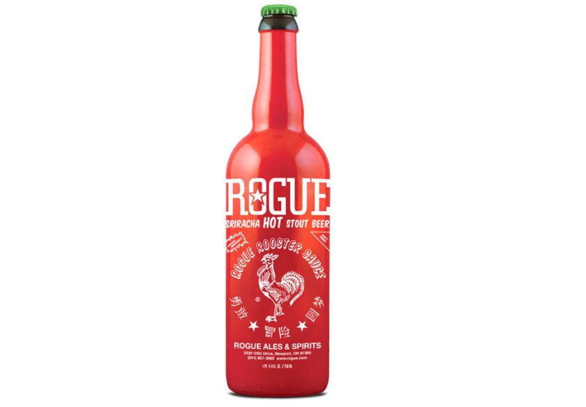 Sriracha stout from Rogue Ales contains Huy Fong Foods' Sriracha sauce.