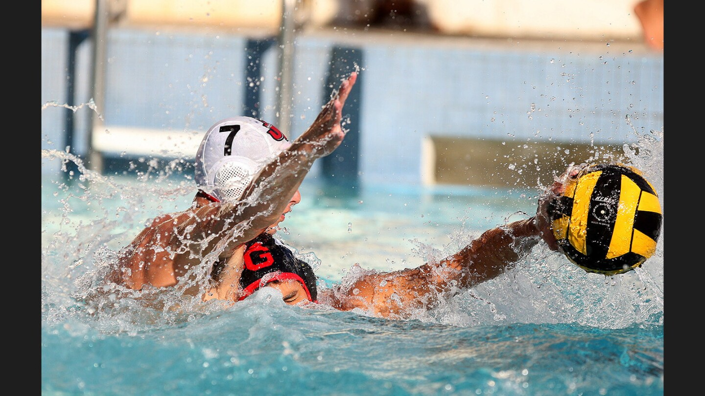 Photo Gallery: Glendale vs. Burroughs in Pacific League boys' water polo