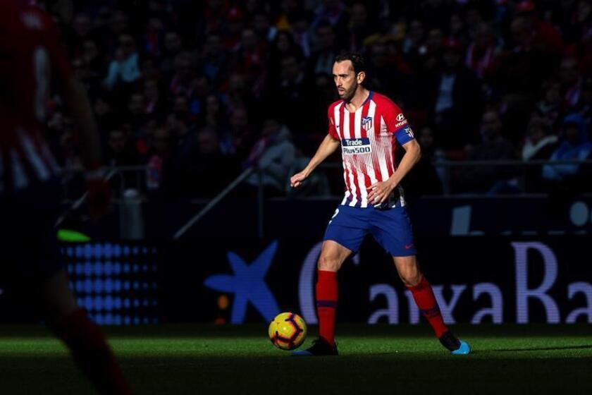 El defensa uruguayo del Atlético de Madrid Diego Godín. EFE/Archivo