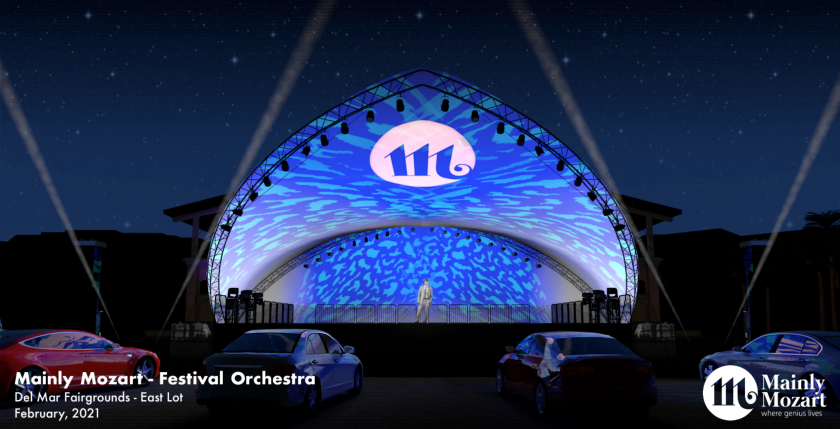 Mainly Mozart kicks off its Festival of Orchestras on Feb. 10 with a drive-in format at the Del Mar Fairgrounds.