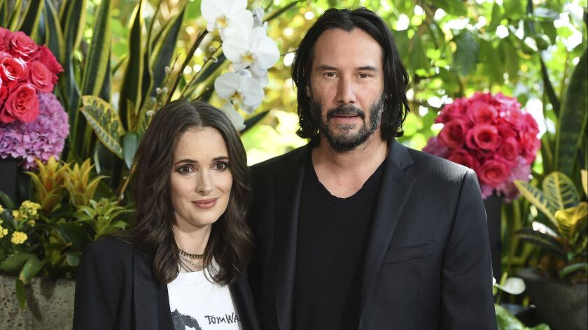 Winona Ryder and Keanu Reeves.
