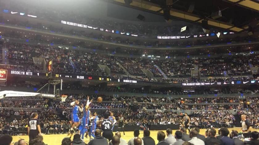 Los Brooklyn Nets vs Oklahoma City Thunder, en la pletórica Arena Ciudad de México de la capital azteca.