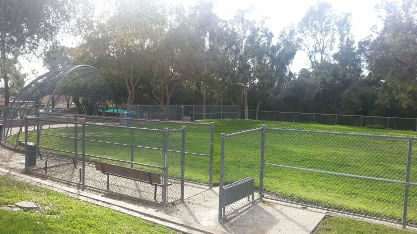 A softball field at Bub Williamson Park in Vista, which will soon undergo a major renovation.