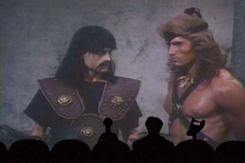 "Still from the classic 'Mystery Science Theater 3000' episode ""Cave Dwellers."""