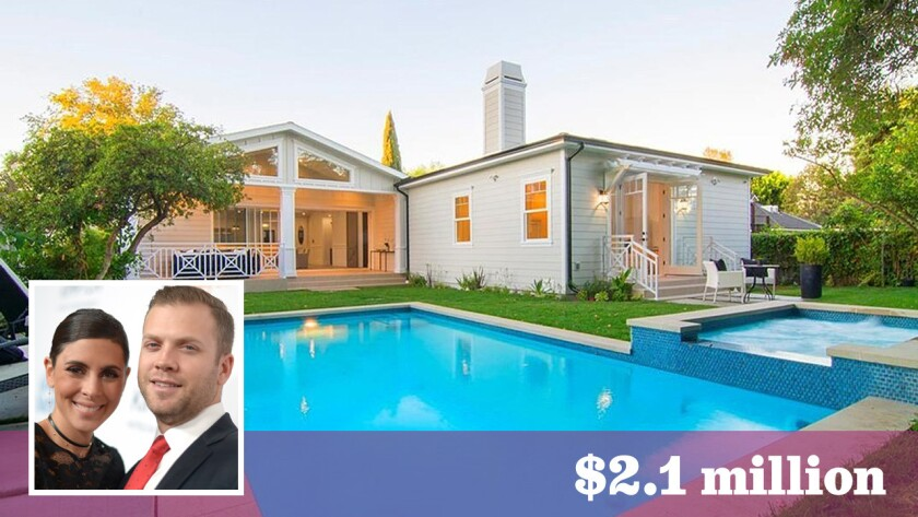 Actress Jamie-Lynn Sigler and pro baseball player Cutter Dykstra have paid $2.1 million for a home in Valley Village.