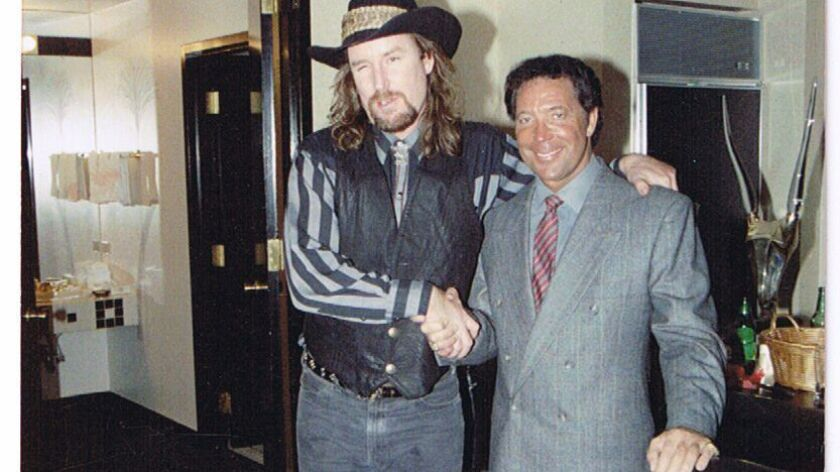 Beat Farmers' leader Country Dick Montana, who died in 1995, is shown with Tom Jones, one of Montana's vocal idols.