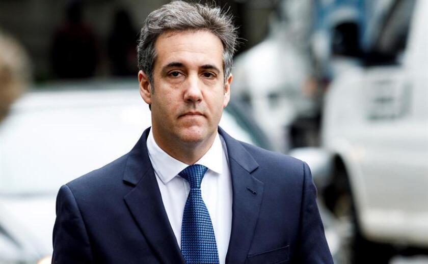 El abogado personal del presidente estadounidense, Donald Trump, Michael Cohen, llega a una audiencia en el Tribunal Federal de Nueva York (Estados Unidos). EFE/Archivo