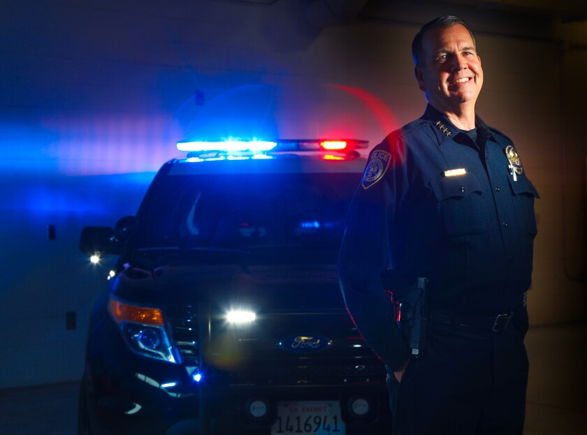 Escondido Police Chief Craig Carter will retire a couple of days before the end of the year. Photographed November 21, 2019, in Escondido, California