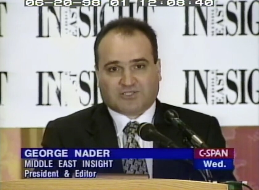 George Nader, shown here in 1998, was sentenced to 10 years in prison on child sex charges.