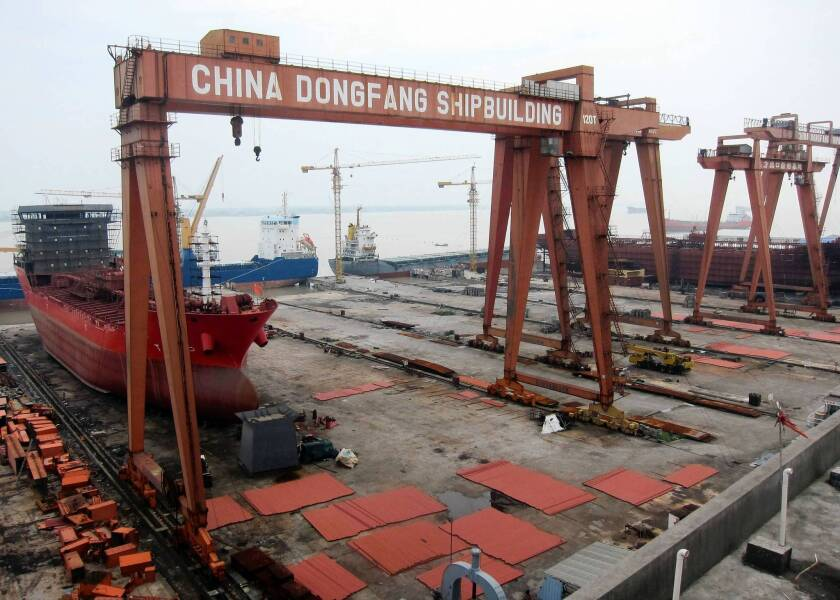 In China, shipbuilders languish after bubble bursts