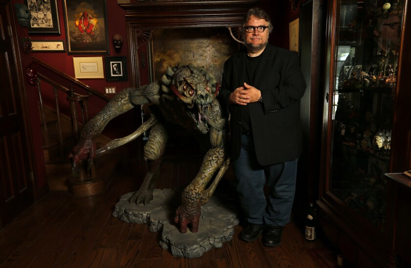 """Sammael the Desolate One, an antagonist in the movie """"Hellboy,"""" is one of the many monster themed props located inside director Guillermo del Toro's Bleak House."""