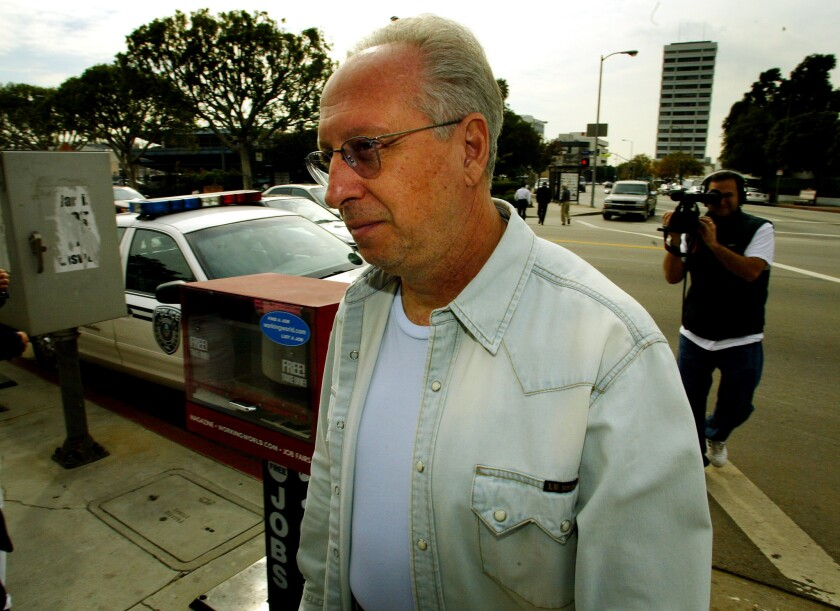 A federal appeals court on Tuesday upheld most of the convictions of onetime Hollywood private detective Anthony Pellicano, shown in 2003. He is serving a prison term in Texas.