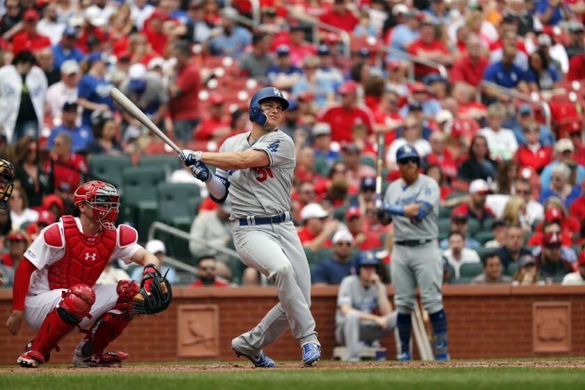 APphoto_Dodgers Cardinals Baseball