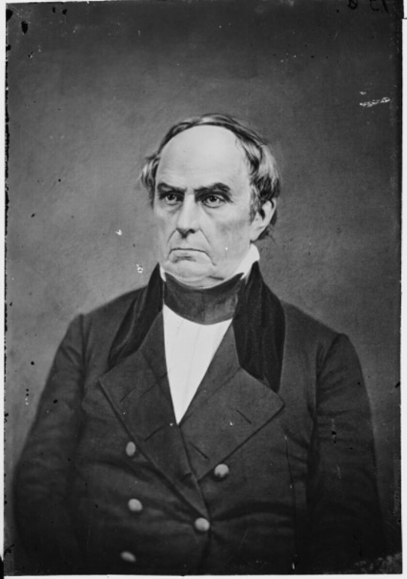 Daniel Webster, circa 1855 and 1865.