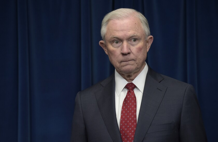 Atty. Gen. Jeff Sessions said last month that he had read a summary of the Justice Department report on Chicago and worried that officers were pulling back on the streets over fear of getting in trouble.