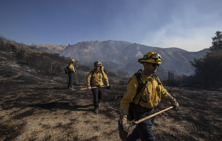 Fire danger looms over Southern California as sundowner winds blow in