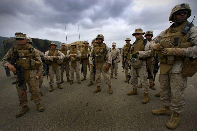 U.S. Marines prepare for deployment  in Afghanistan.