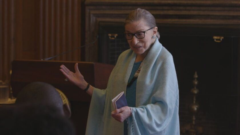 "Ruth Bader Ginsburg appears in ""RBG"" by Betsy West and Julie Cohen, an official selection of the Documentary Premieres program at the 2018 Sundance Film Festival."