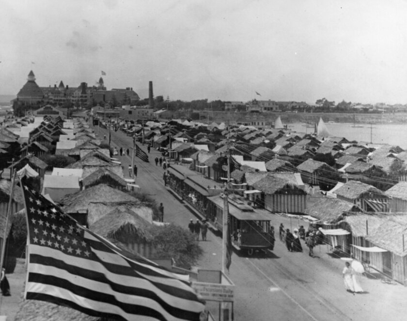 Tent City, a vacation land for the common man of the early 20th century, sprawls out south of Hotel del Coronado. Coronado Public Library