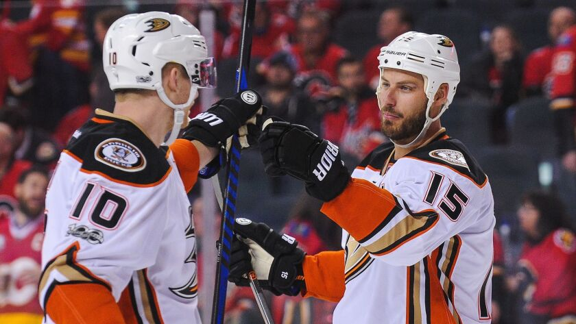 Corey Perry, left, and Ryan Getzlaf have been at the core of the Ducks' success for many seasons.