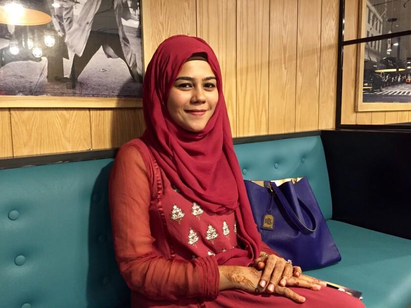 Wahabba Husain, 23, studied at Al-Huda, an Islamic institute for women in Karachi, Pakistan.