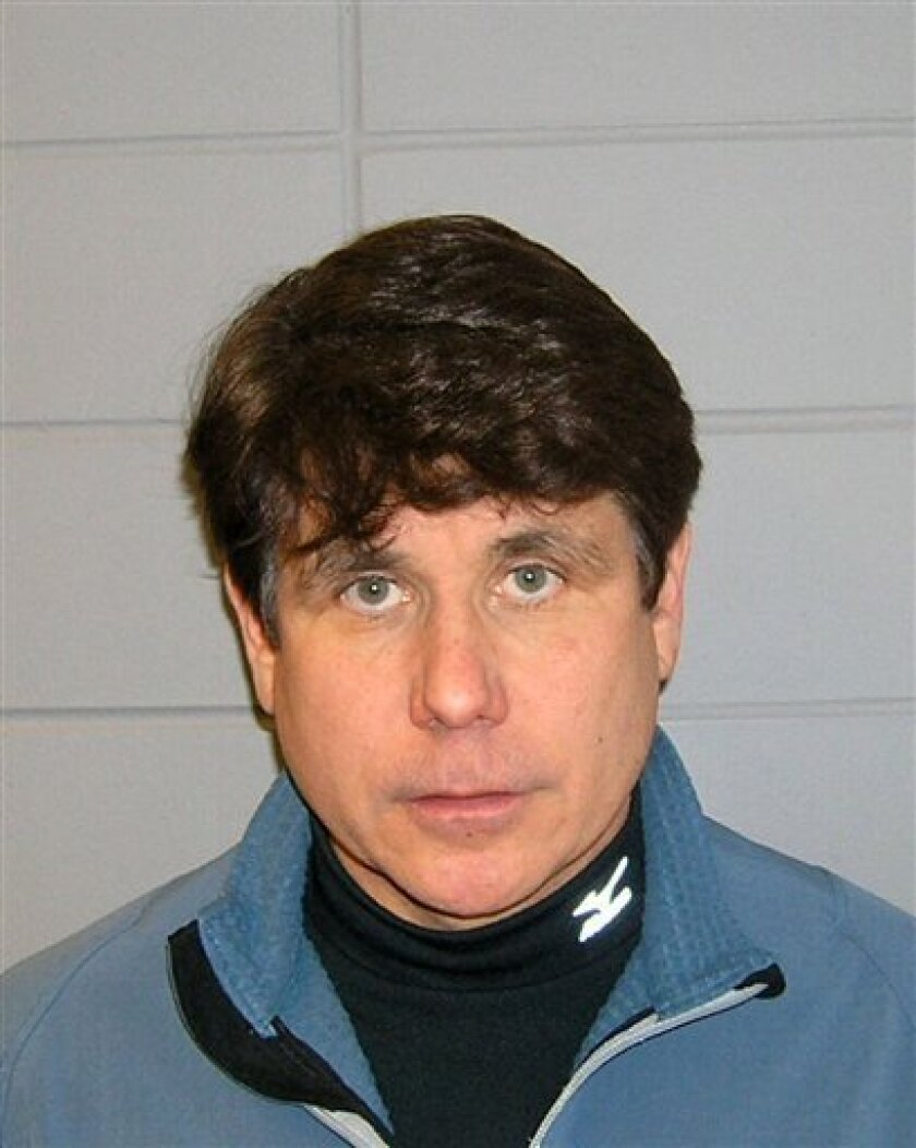 This Dec. 9, 2008 Department of Justice booking photo shows Rod Blagojevich following his arrest in Chicago. Blagojevich has pleaded not guilty to charges that include scheming to sell or trade President Barack Obama's former Senate seat. His trial is scheduled to start on June 3, 2010. (AP Photo/Department of Justice)