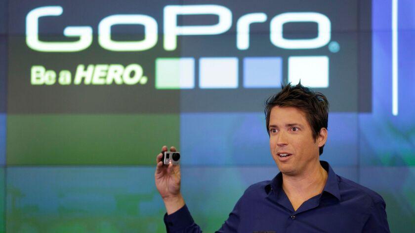 GoPro CEO Nicholas Woodman celebrates his company's IPO in 2014.