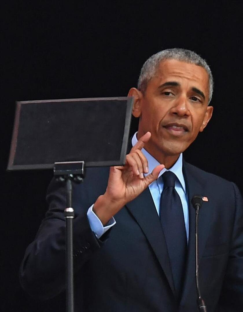 El expresidente estadounidense Barack Obama. EFE